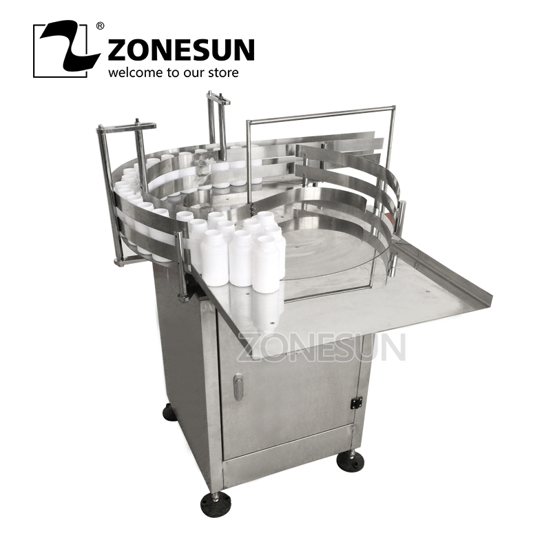 ZONESUN Automatic Round Rotary Plastic Glass Bottle Unscrambler Glass Bottle Sorting Turntable Feeding TableZONESUN Automatic Round Rotary Plastic Glass Bottle Unscrambler Glass Bottle Sorting Turntable Feeding Table