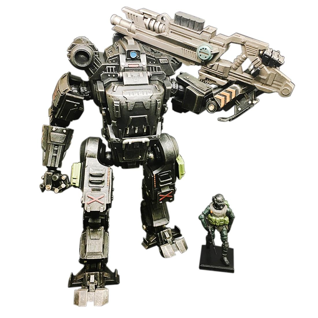 21 см 1:25 DIY съемная меховая модель солдатская модель Строительная игрушка с высокой степенью уменьшения строительные блоки черный Zeus