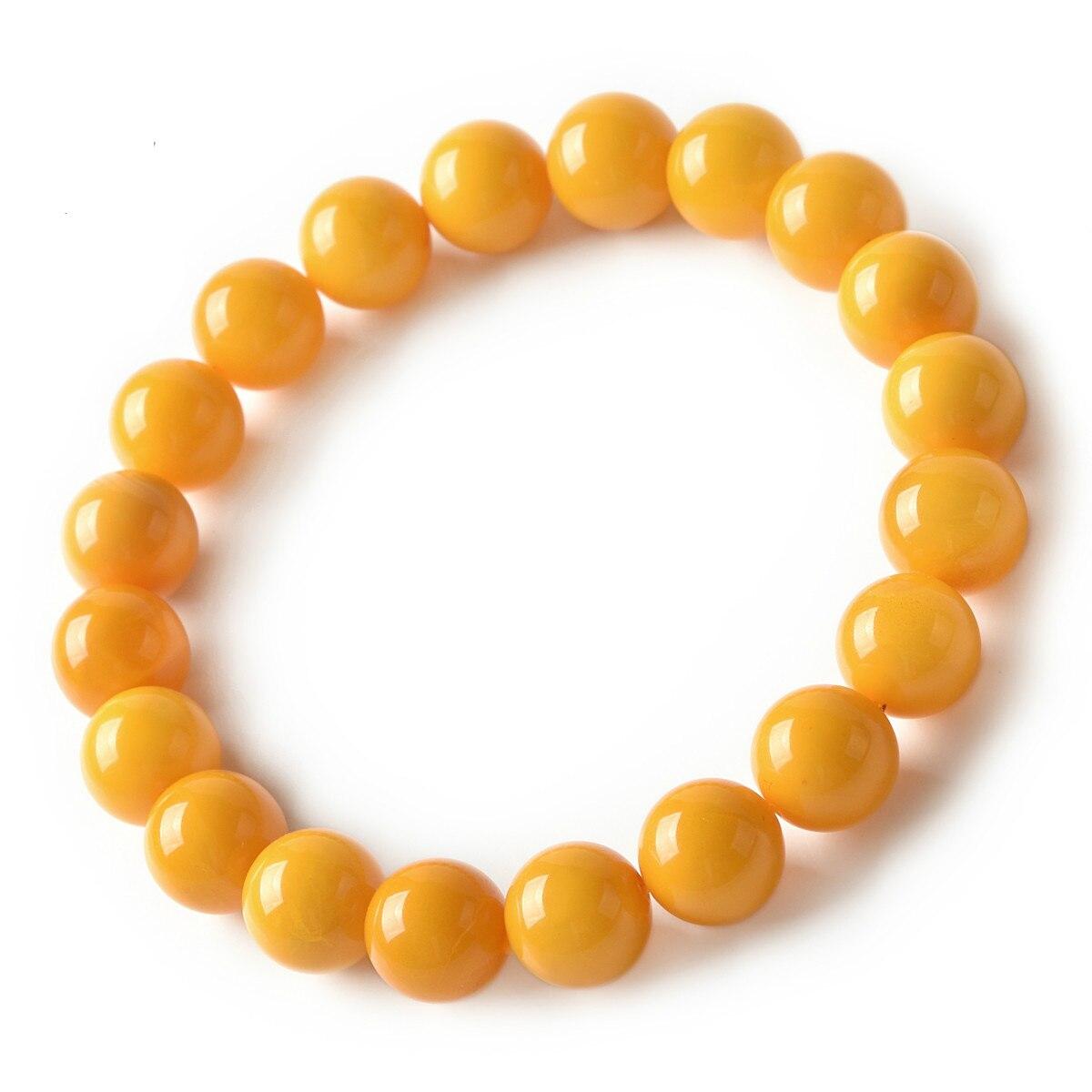 Miel cire main chaîne huile de poulet miel cire main chaîne unique anneau cristal ambre perle bijoux pour hommes et femmes