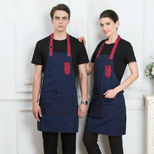 High Quality Cooking Kitchen Apron For Woman Men Chef Waiter Uniform Cafe Shop Bakery BBQ Hairdresser Aprons Bibs Wholesale