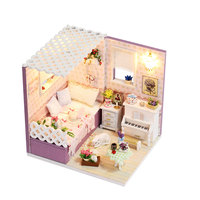 DIY Doll House Miniatura Dollhouse With Furnitures Wooden Casa Building Model Gift Toys For Children Love In Budapest M007 #E