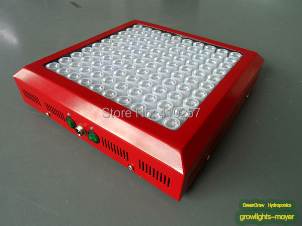 Wholesale Red shell 3W Led Grow Light 300W(100*3W) built with optical lens best for Medicinal plants growth and flowering