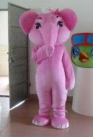 Petit nez rose éléphant Costume De Mascotte Caractères Costumes D'halloween Fancy Dress Costume de Vacances spécial vêtements