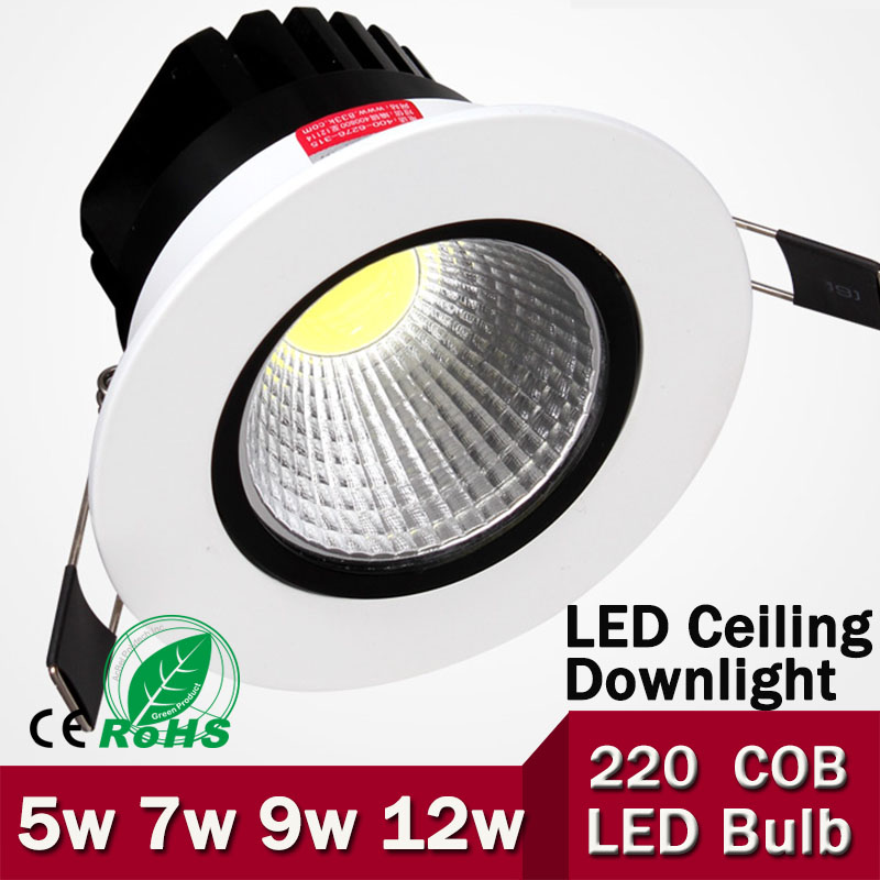 5W/7W/9W/12W COB LED Ceiling Light High Brightness Cool White/Warm White Free Shipping нож olfa с лезвием крком ol hok 1