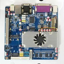 Ultra thin PC D525 motherboard fanless mini itx motherboard with onboard DDR3 2GB RAM
