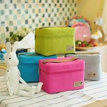 Новое поступление Polyesterc открытый практические небольшие сумка холодильник обед сумки пикник водонепроницаемый чехол организатор сумки  дорожные сумки