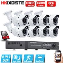 HD 8CH 1080N 1080P CCTV System HDMI AHD DVR 8PCS 2.0MP IR Outdoor Night Vision Security Camera Video Surveillance Kit