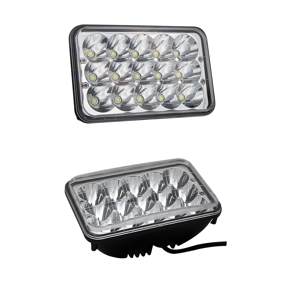 CO LIGHT H4 Led Headlights 2pcs 4X6 45W High Low Beam Dc 12V 24V for 4X4 Off Road Auto Jeep Suv Atv Daf Gmc Foden Truck co light 4x6 led headlight 2pcs 45w 3825lm 25w 2125lm high low h4 lamp car led light for gmc chevrolet camaro kenworth daf