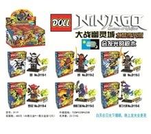 Doll D119 Ninja Series Luminous Version Ghost Jay/Niya Town Minifigure Building Block Bricks Toys Kid Compatible with Legoe