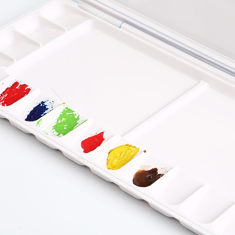 18 23 33 grid sealed moisturizing empty box beginner watercolor paint plastic color box adult sketch portable art supplies in Palette from Office School Supplies