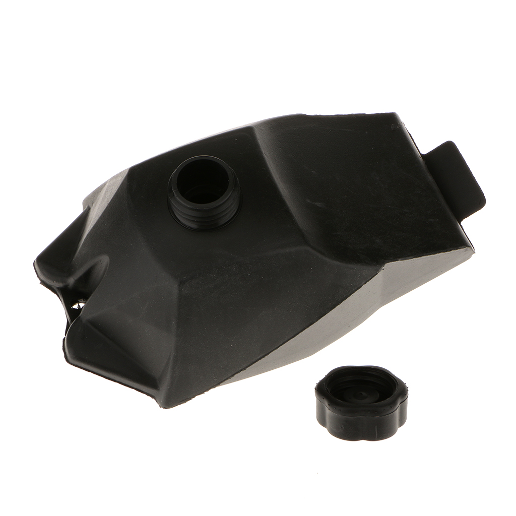 Universal Plastic Gas Fuel Tank W.cap For 47cc-49cc Mini Quad ATV Dirt Bike 23x14cm 1.5L Black