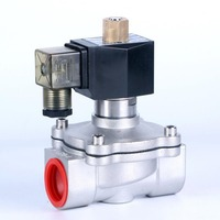 1/2 3/4 1 to 2 stainless steel normally open Electric Solenoid Valve,Pneumatic Valve for Water Oil Gas AC 220V DC 12V DC 24V