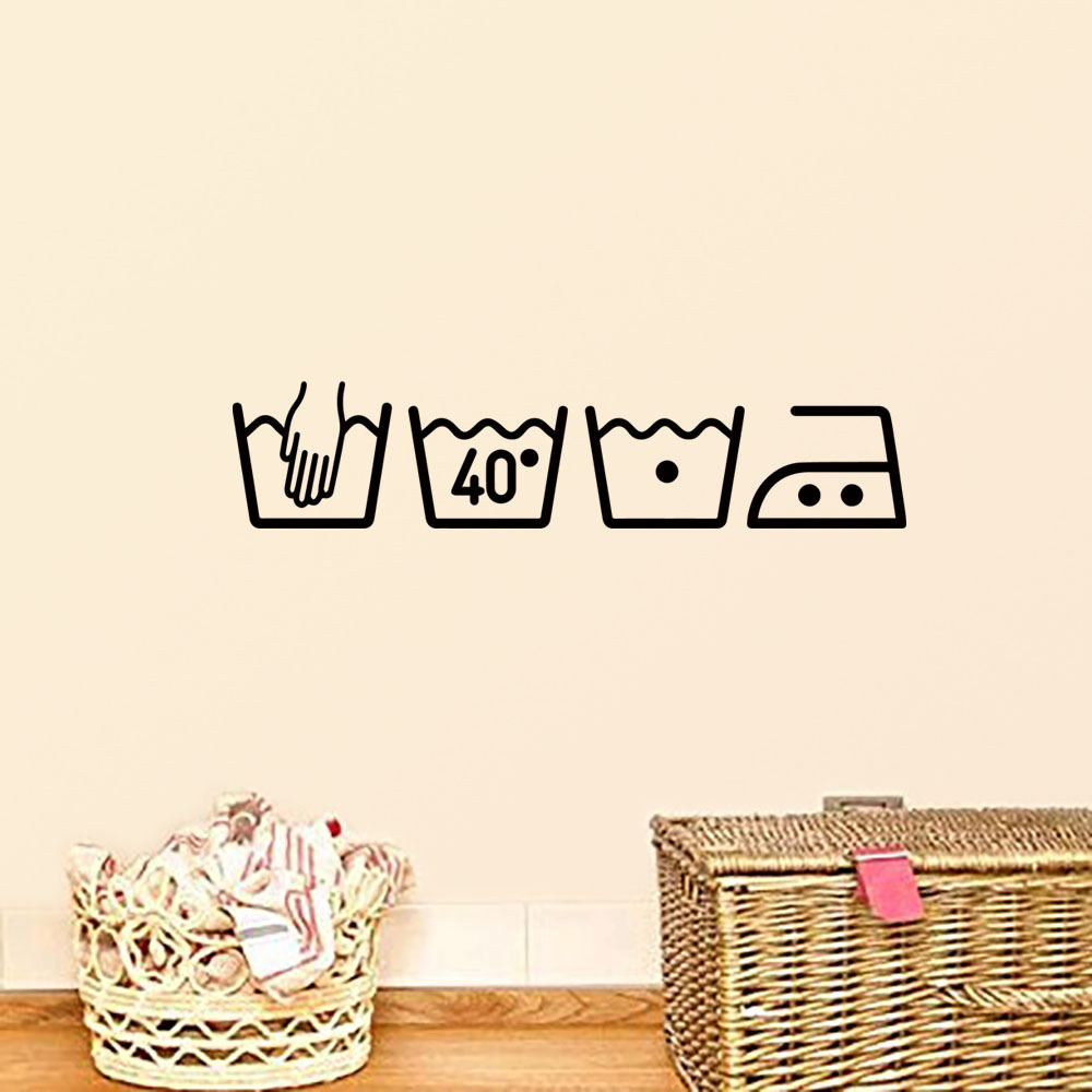 Fashion Washing Machine Wall Sticker For Laundry Room Removable Art Mural Home Decor Sticker On The Wall Poster