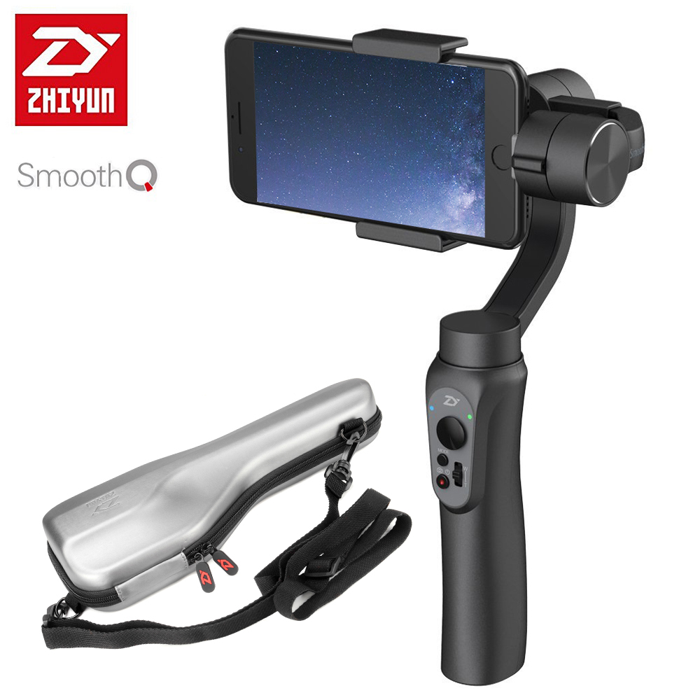 Zhiyun SMOOTH-Q Lisa Q Handheld 3-Axis Gimbal Estabilizador Portátil para Smartphone iPhone X 8 7 Plus 6 S8 S7 6 Disparo Vertical
