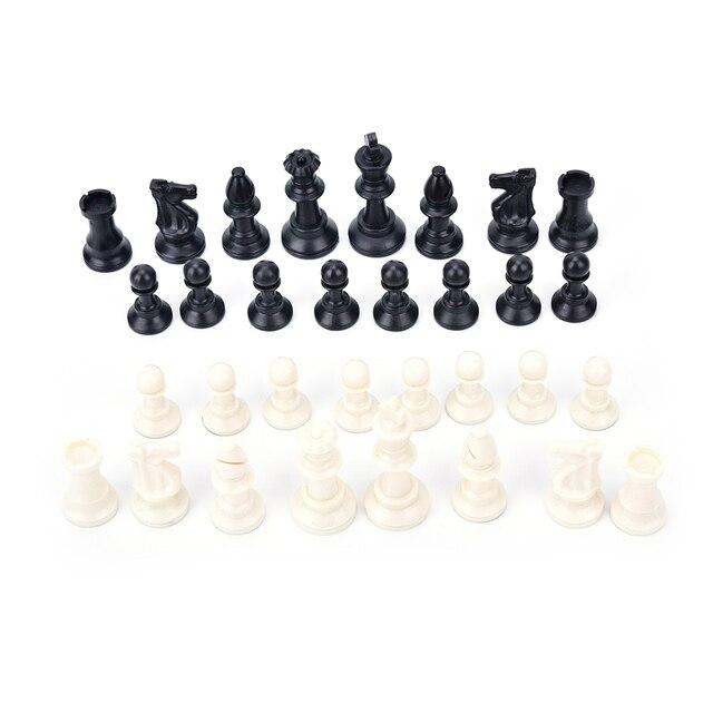 32 pièces/ensemble 65MM complet pièces d'échecs/plastique 5