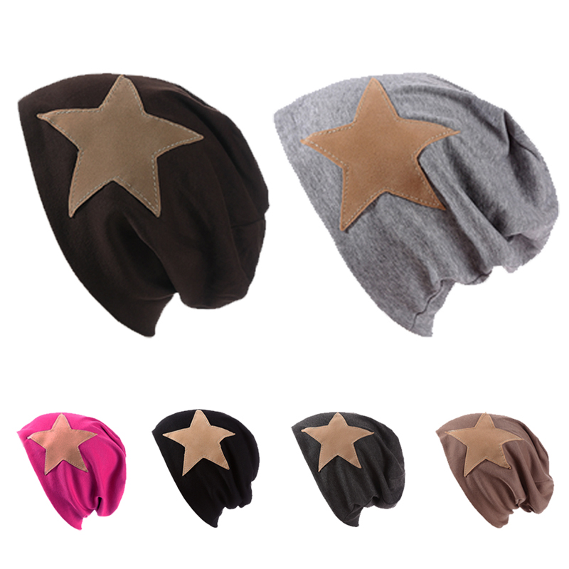 Mens Reversible Baggy Oversized Winter Warm Star Ski Knit Beanie Hat Hip Hop Cap