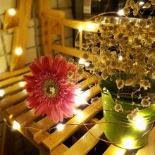 Solar Powered 20 LED Bubble Icicle Hanging String Fairy Lights Christmas Wedding Party Decoration Light String Drop Shipping(China)