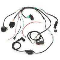 Mayitr 50cc 125cc Motorcycle CDI Wiring Harness Loom Solenoid Coil Rectifier For 50cc 110cc 125cc PIT