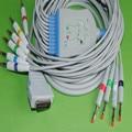 Совместимость с GE Marquette MAC400  MAC500  MAC1000  MAC1100/1200  GE EKG кабель 10 Leadwires Banana 4 0 Конец