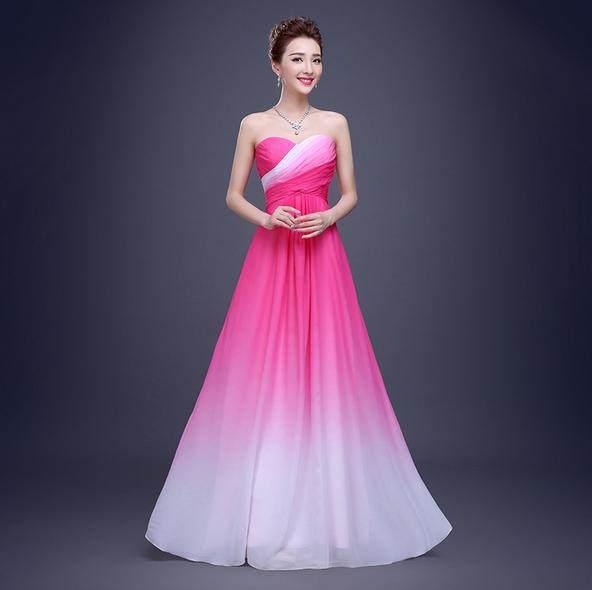 Online Shop Harga Murah Panas 2018 Prom Bridesmaid Dresses Panjang