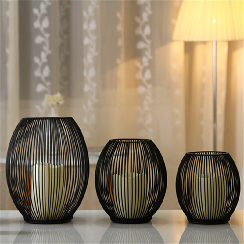 LED candle holders decorative Bird Cages Weddings Black Metal Home Decor For Wedding party Centerpieces vintage bird cage morocc
