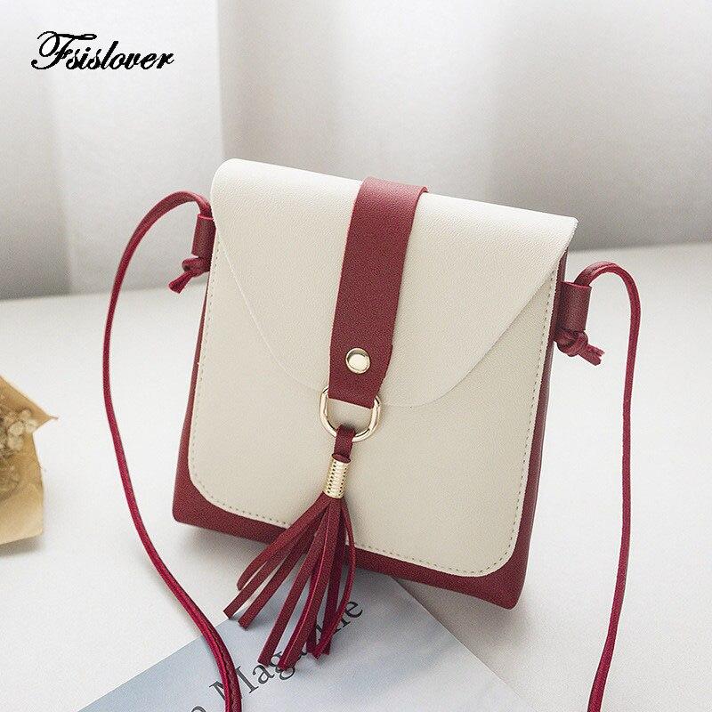 FSISLOVER high quality small ladies messenger bags leather shoulder bags women crossbody bag for girl brand women handbags sac shoulder bag