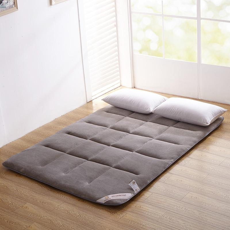 Möbel Flanell Tatami Klapp Kingsize Bett Kissen/pad Für Schlafsaal/home Super Weiche Matratze Sicherheit Material Schlafzimmer Funiture