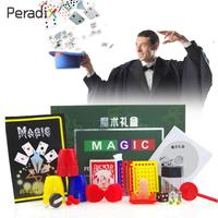 Magic Toys Set Box Creative Kids Tricks Gifts Magician Supplies Roleplay