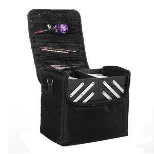 Image 2 - Estojo profissional multicamada ombro, maquiagem para unhas, ferramenta para armazenamento de cosméticos