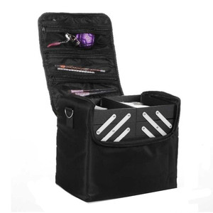 Image 2 - The New shoulder double open multi layer professional makeup case nail tattoo makeup tools storage package cosmetic bag