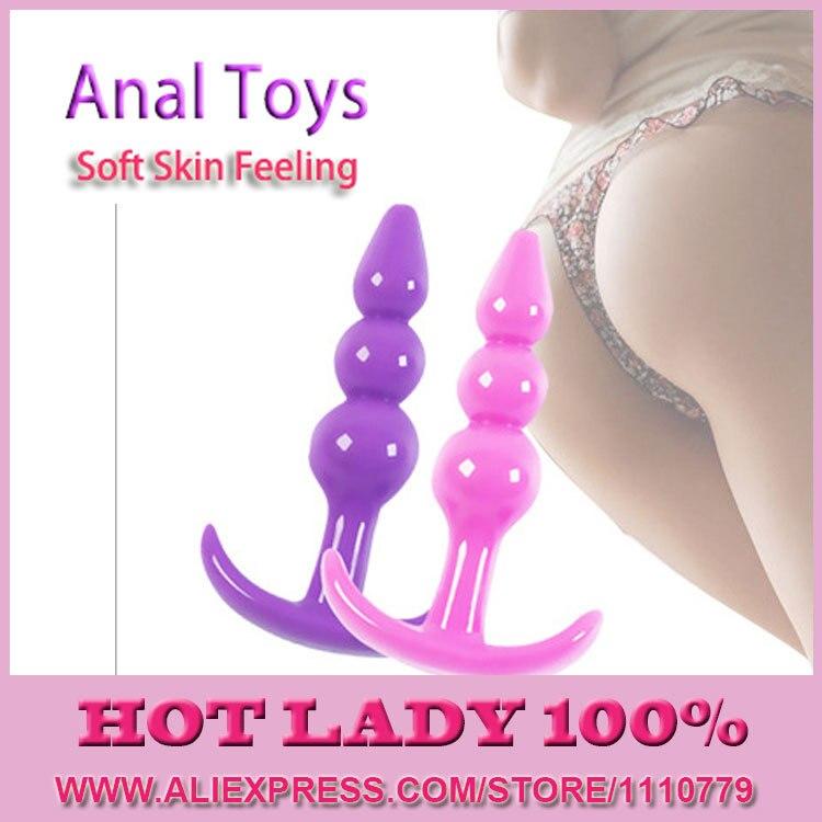 New Arrive Men Women Butt Plug Jelly Anal font b Toys b font Real Skin Feeling