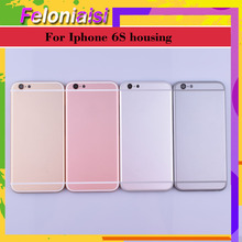 Original For APPLE iphone 6 6G 6S 6 Plus 6S plus case body chassis full housing shell assembly battery cover Door Middle Frame interstep frame чехол для apple iphone 6 plus 6s plus titanium