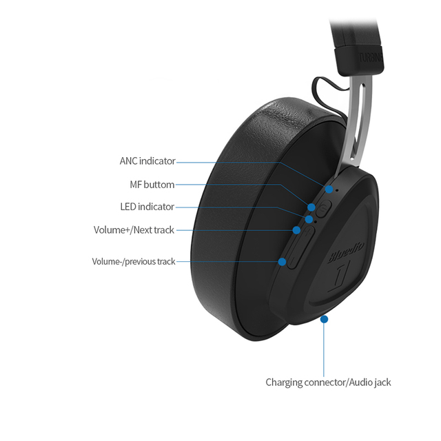 Bluedio TM wireless bluetooth headphone with microphone monitor studio headset for music and phones support voice control 2