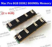 Free Shipping 100% Original for Mac Pro Memory 8GB (2 x 4GB) DDR2 PC2 6400 FB Dimm DDR2 800MHZ memory
