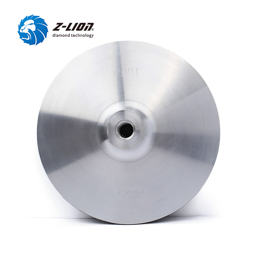 Z-LION 6 Inch Aluminum Base Backer Pads With M14 Thread For Diamond Polishing Pads Backing Disc Sanding Grinding Backing Holder free shipping coarse medium fine grit 4 inch diamond turbo cup wheels m14 thread for grinding concrete and stone 3pcs set