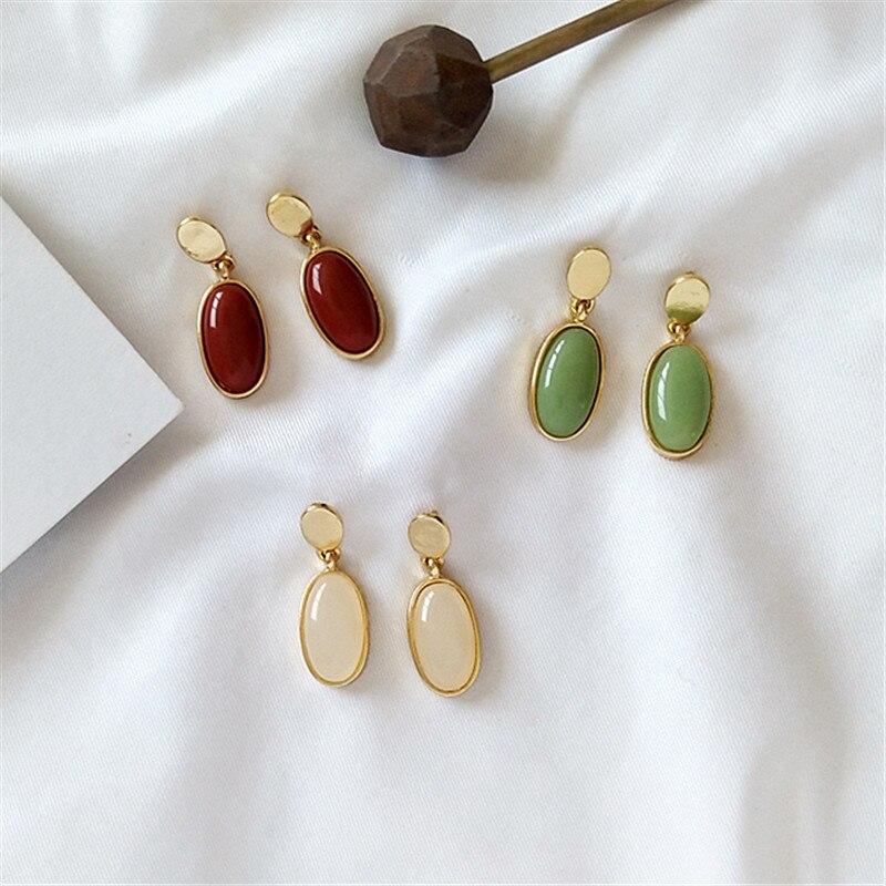 Geometric personality, retro pendant earrings, women's Fashion Earrings Metal exquisite earrings jewelry wholesale