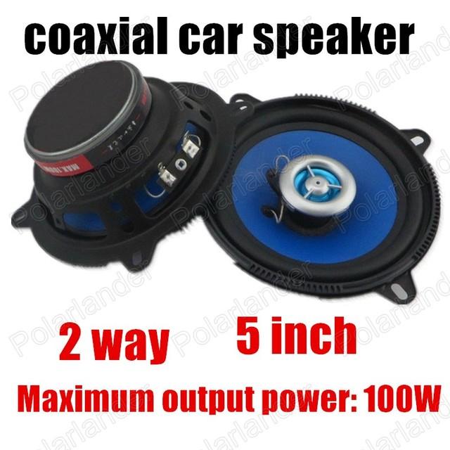Venta caliente de alta calidad de audio del coche altavoces de 2 vías 2x100 W azul precio Promocional de 5 pulgadas coche altavoces coaxiales coche estéreo altavoz