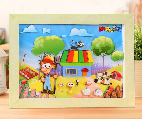 Diy Three Dimensional Jigsaw Puzzle Children Puzzle Picture Frame