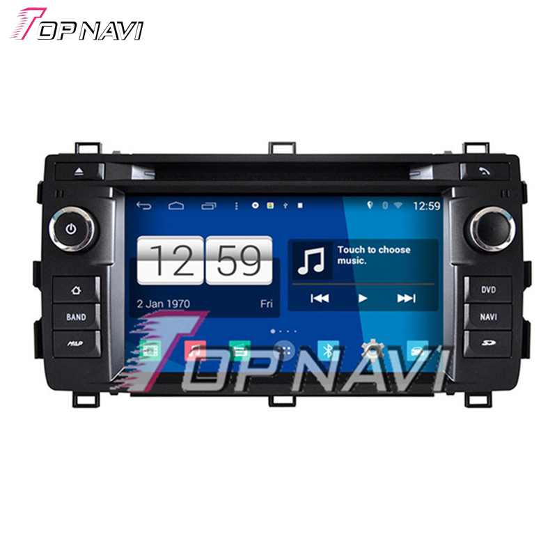 Newest Quad Core S160 Android 4.4 Car DVD Audio For Toyota Auris 2013 With Mirror Link BT Wifi 16GB Flash