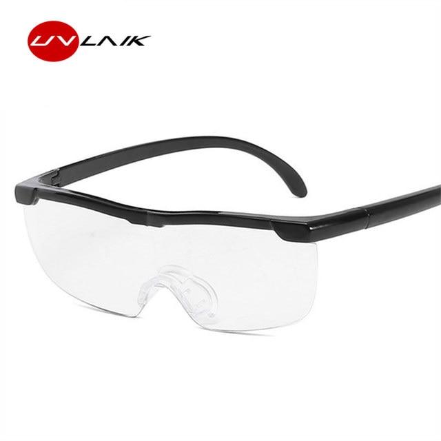 UVLAIK Big Vision Unisex 160% Magnifying Reading Glasses Magnification Presbyopic Clearer Eyewear Magnifier Reader Glasses