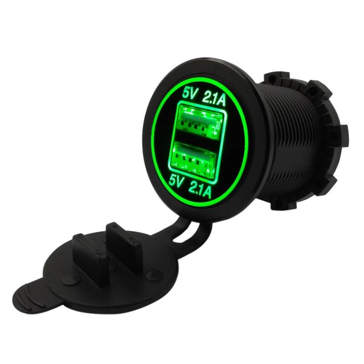 По DHL или FedEx 200 шт. DC 12 В/24 В двойной порт автомобильное USB зарядное устройство 4.2A розетка питания для лодки мобильных телефонов светодиодный свет мотоцикла