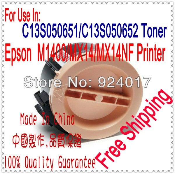 For Epson M1400 MX14 Toner Refill For Epson Refill Toner 0651 C13S050651 0652 C13S050652 Resetter Toner
