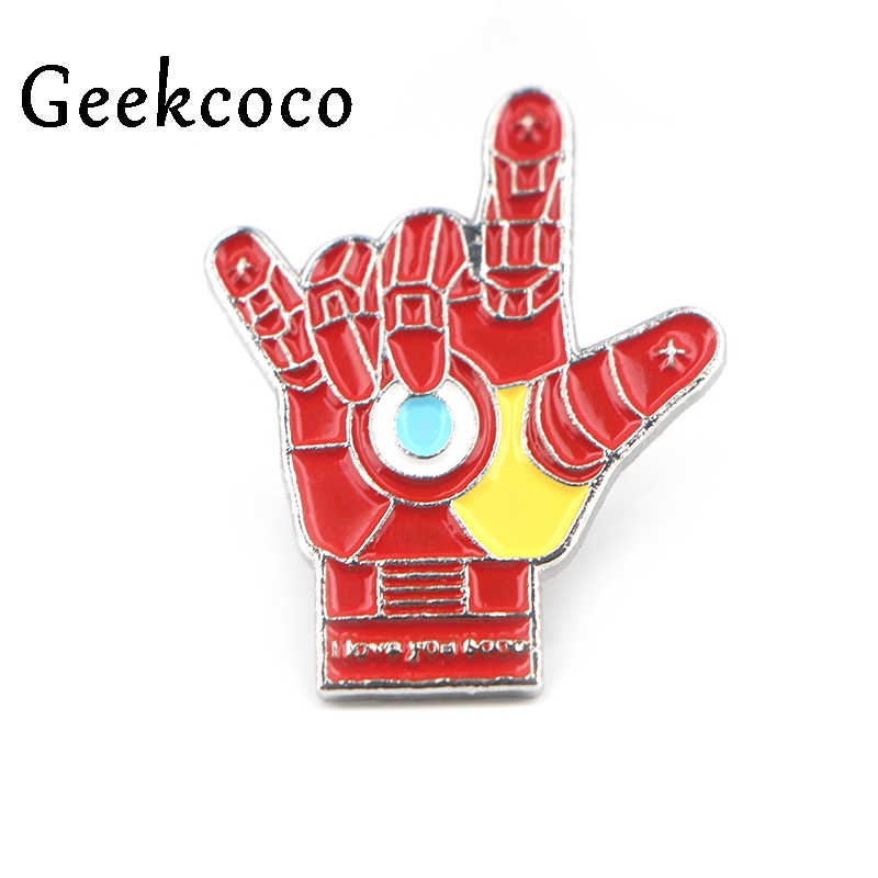 Thanos love gesture Cartoon Hard Enamel Brooches Pins Women Men couple Clothes Backpack Decoration Lapel Pin Badge Jewelry J0440