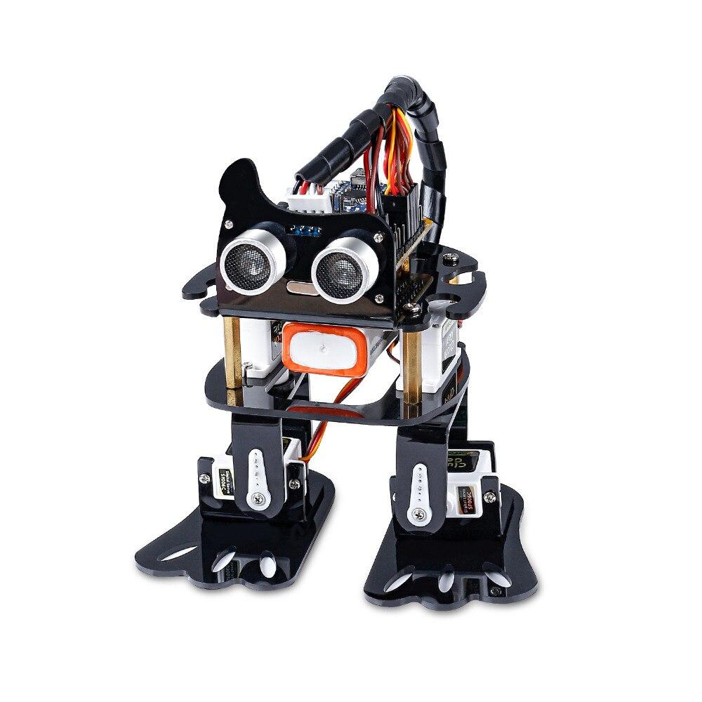 Kit Robot bricolage 4-dof sunfondateur-Kit d'apprentissage pour Arduino Nano Robot à monter soi-même