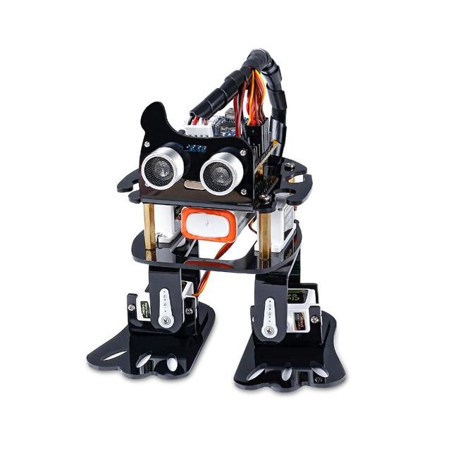 Sunfounder diy 4 dof robô kit sloth aprendizagem kit para arduino nano diy robô