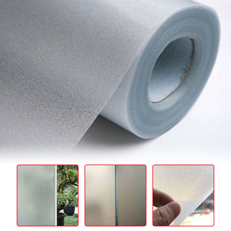 200/100cm Home Office Bedroom Bathroom Window Glass Waterproof Frosted Film Sticker PVC Frosted Privacy Frost Sticker