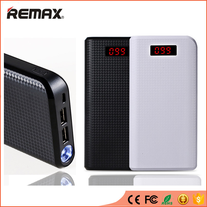 REMAX High Capacity Power Bank Dual USB LED Light Portable Powerbank External Mobile Phones PC Battery