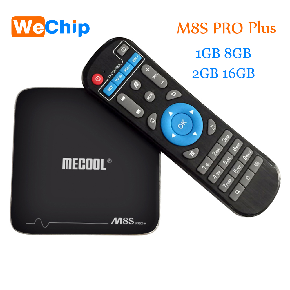 Wechip M8S PRO Plus Android Smart TV Box M8S PRO Plus Android 7.1 2G 16G Amlogic S905X Support WIFI H.265 4K Mini PC Set Top Box x9 pro amlogic s905x 2g 16g 4k tv box tronsmart tsm01