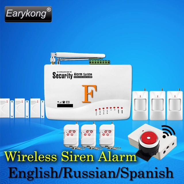 Hot Selling New Wireless Home GSM Alarm System 433MHZ Support English Russian Spanish Language 3 years Warranty