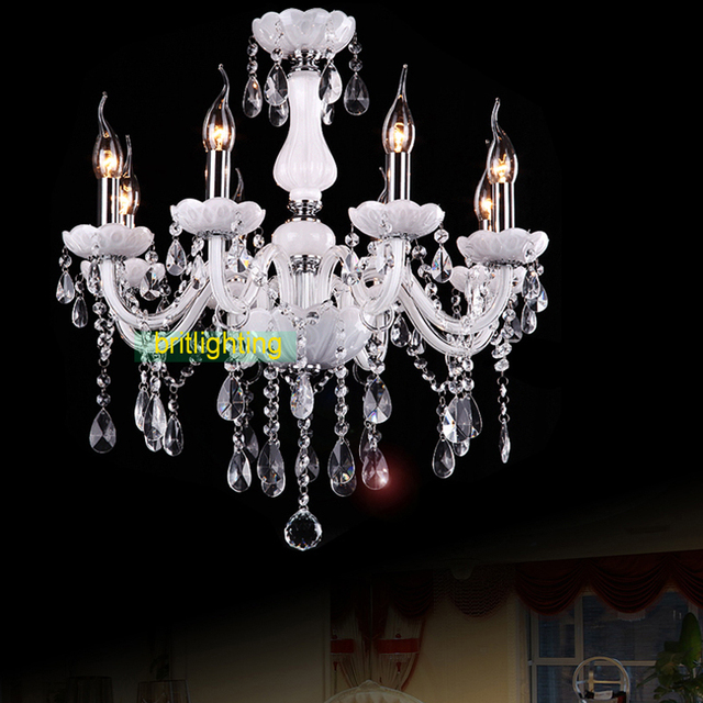 Empire Style Chandelier White Color Chandelers Williamsburg Crystal Lighting Master Room Led Candle Bulbs